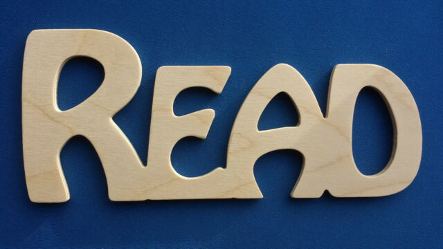 "Wooden Plaque Word Letters ""READ"" Home Decoration Art Craft Gift"