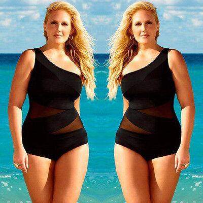 Women Plus Size Sexy Swimsuit One Piece Push Up Bandage Bikini Swimwear Tankini