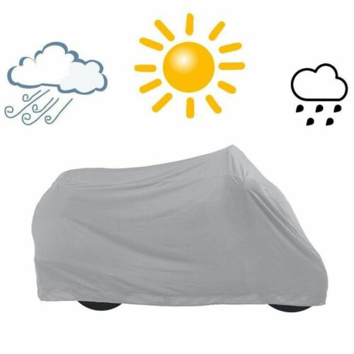 New Motorcycle Bike Waterproof Cover Rain Dust Resistant Outdoor Storage Size L