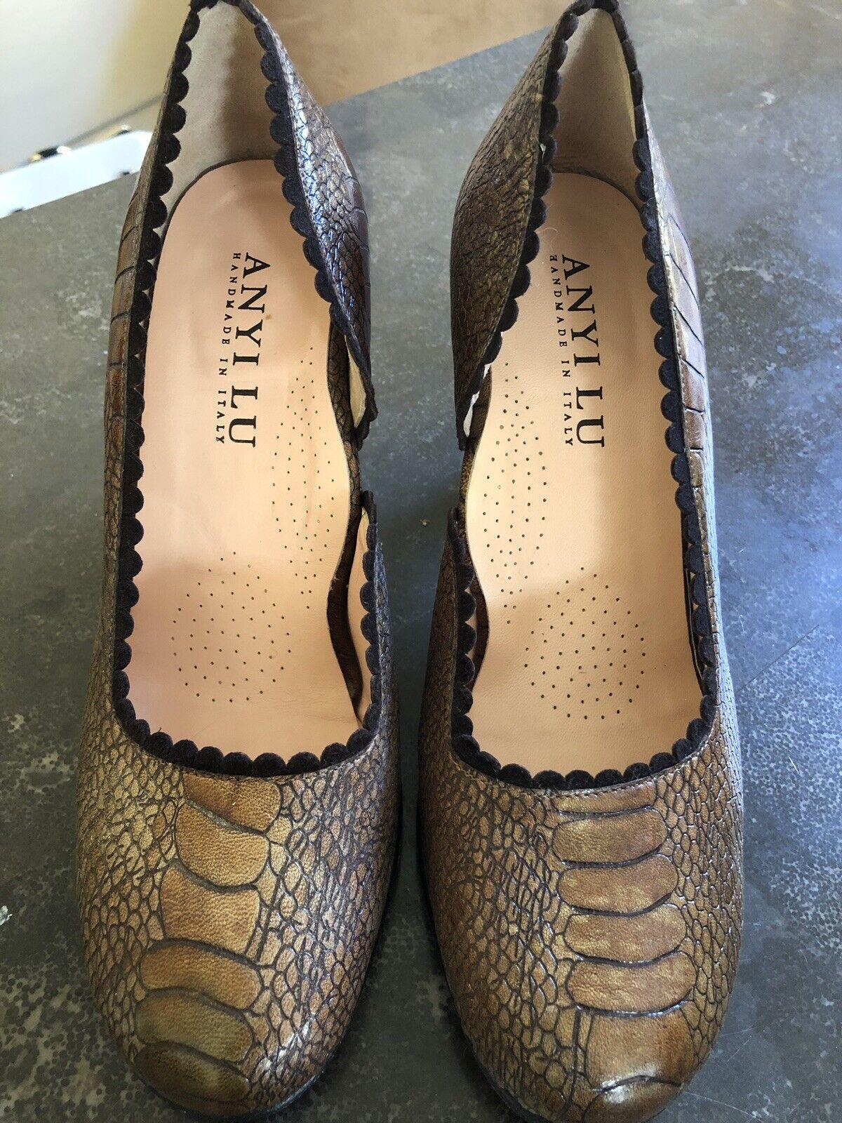 Anyi Lu Shoes 37.5 New Handmade Italy