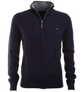 tommy hilfiger herren jacke strickjacke sweatjacke navy all sizes. Black Bedroom Furniture Sets. Home Design Ideas