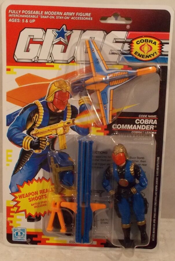 GI Joe ARAH Vintage 1991 Cobra Commander Leader With Glider Bomb By Hasbro  MOC