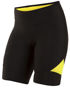 Pearl Izumi 2017 Women's Select Pursuit Bike Cycling Shorts Black/Yellow XL