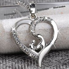 MOTHERS DAY DEALS - NEW Silver Heart Necklace Love Gift For Her Mum Daughter Mom