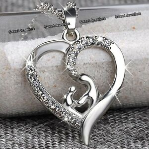 MOTHERS DAY DEALS  NEW Silver Heart Necklace Love Gift For Her Mum Daughter Mom - <span itemprop=availableAtOrFrom>Wembley, Middlesex, United Kingdom</span> - Returns accepted - Wembley, Middlesex, United Kingdom