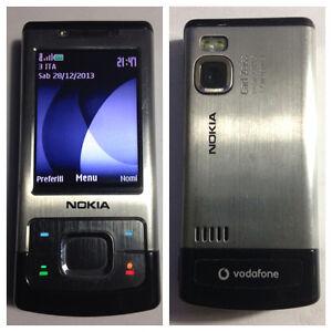 CELLULARE-NOKIA-6500-SLIDE-GSM-3G-FOTOCAMERA-UNLOCKED-SIM-FREE-DEBLOQUE
