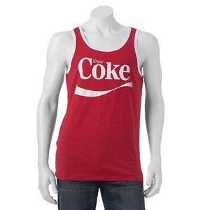 585456fc276364 Coca Cola Men s ENJOY COKE Red   White Tank Top Distressed Graphics ...