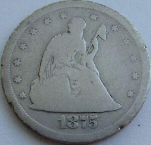 1875-S-Twenty-Cent-Piece-Silver-20C-in-a-SAFLIP-Good