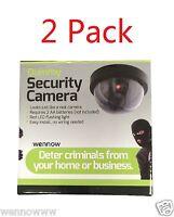 2 Pack Realistic Dome Security Camera - Imitation Surveillance Camera