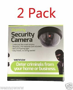 2 Pack Realistic Dome Security Camera - Imitation Surveillance Camera
