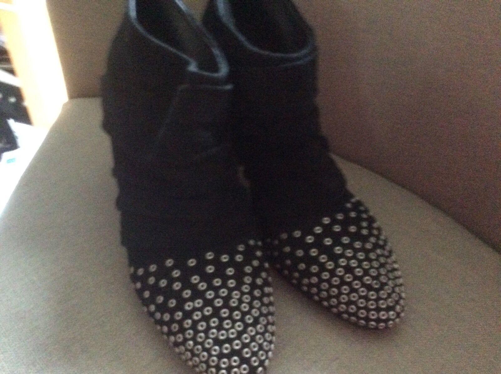 JEFFREY CAMPBELL Famous 6.5 6.5 Famous US Black Leather Platform Boots Heels 4 UK Nasty Gal eff3ea