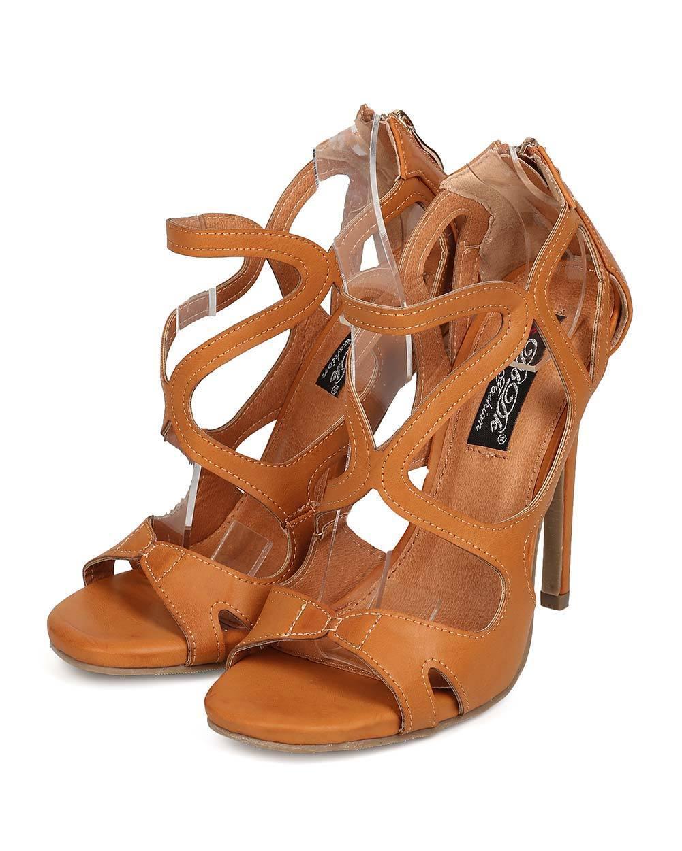 huge discount 48257 492ca Women DbDk Paulette-2 Open Toe Caged Strappy Stiletto Sandal Leatherette  New nswbpx4942-Women s Heels