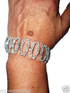 Rhinestone-Austrian-Crystal-Bracelet-Clear