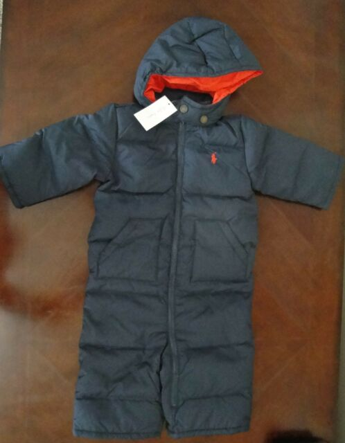 49e3993d0 Ralph Lauren Baby Boys Hooded Snowsuit Navy Size 6m 6 Months