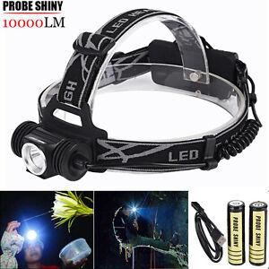 10000Lm-XM-L-T6-LED-Headlamp-Headlight-USB-18650-Flashlight-Head-Light-Lamp-US