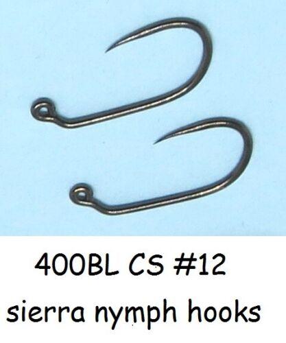 CZECH NYMPH 50 #12 400BL CS razor sharp JIG fly tying hooks