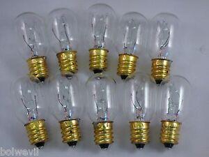 10 Pack15 Watt Light Bulbs Fits Plug In Scentsy Warmers