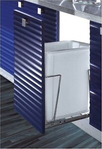 Image Is Loading 37q Container Pullout Kitchen Cabinet Trash Can Bin