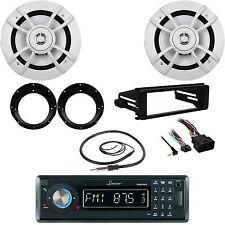 "USB Bluetooth Radio,98-2013 Harley Kit, Antenna,6.5""Speakers,Motorcycle Adapters"