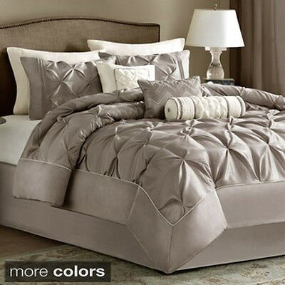 Madison Park Lafayette Tufted Taupe 7-piece Comforter Set