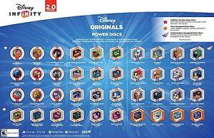 Disney Infinity Power Discs 30 Star Wars Marvel 20 Originals