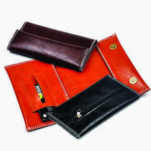 TOBACCO POUCH IN TAN  - PU LEATHER - VISIT OUR STORE FOR BLACK AND BROWN COLOURS