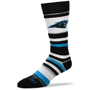 Carolina-Panthers-For-Bare-Feet-Women-039-s-Soft-Stripe-Crew-Length-Socks
