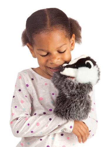*NEW* Folkmanis 3102 Little Badger Hand Puppet 21cm designed to fit little hands