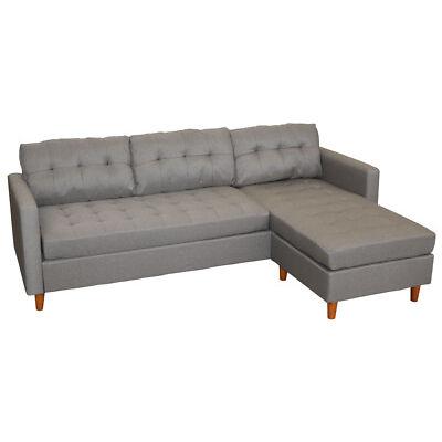 KMH® Ecksofa grau Eckcouch Wohnzimmercouch Sofa Couch Wohnzimmersofa Schlafsofa