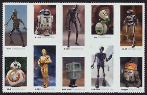 5582b Star Wars Droides, Se-Tenant Bloque, Nuevo Cualquier 5=
