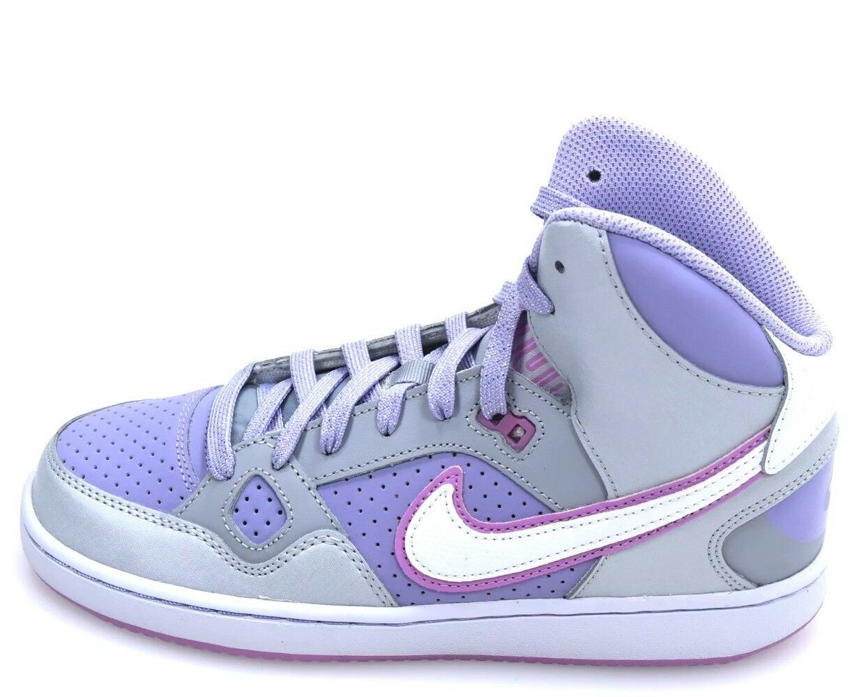 Nike Force Girls Size 5.5Y Shoes Hi Mid Top Purple/Gray 616371-007