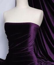 Purple velvet /velour 4 way stretch spandex lycra Q559 PPL