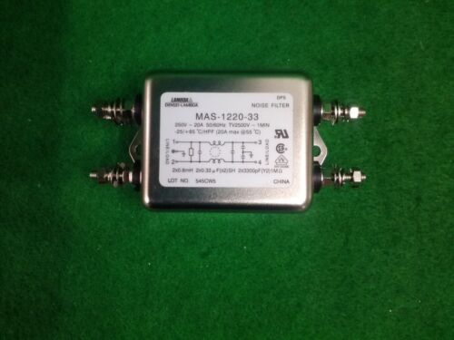 LAMBDA MAS-1220-33 NOISE FILTER 250V 20A USED