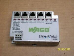 Details about WAGO 5 PORT ETHERNET SWITCH I/O SYSTEM , 758-500