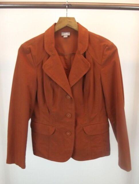 J.Jill Womens Blazer Jacket Size 4 S Small Dress Coat Brown