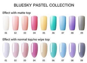 Image Is Loading Bluesky Pastel Collection Uv Led Soak Off Gel