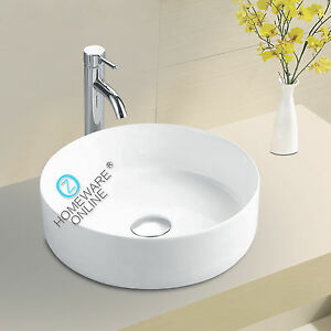 Image Is Loading Round Bathroom Ceramic Wash Basin Above Counter Top