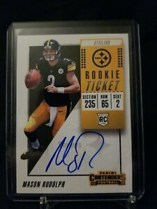 2018-PANINI-CONTENDERS-ROOKIE-TICKET-AUTO-RC-MASON-RUDOLPH-PITTSBURGH-STEELERS