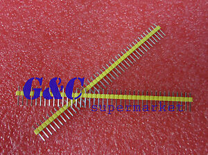 50PCS Red 2.54mm 40 Pin Male Single Row Pin Header Strip ZH1