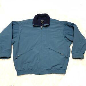 Patagonia-Vintage-Jacket-Blue-Bomber-Windbreaker-Fleece-Lined-Men-039-s-Size-M