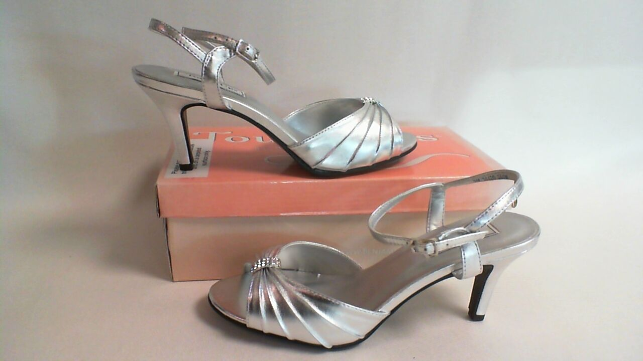 New: Touch Ups Bridal/Evening Shoes - Asher - Silver - US 9.5M - UK 7.5 #23L416