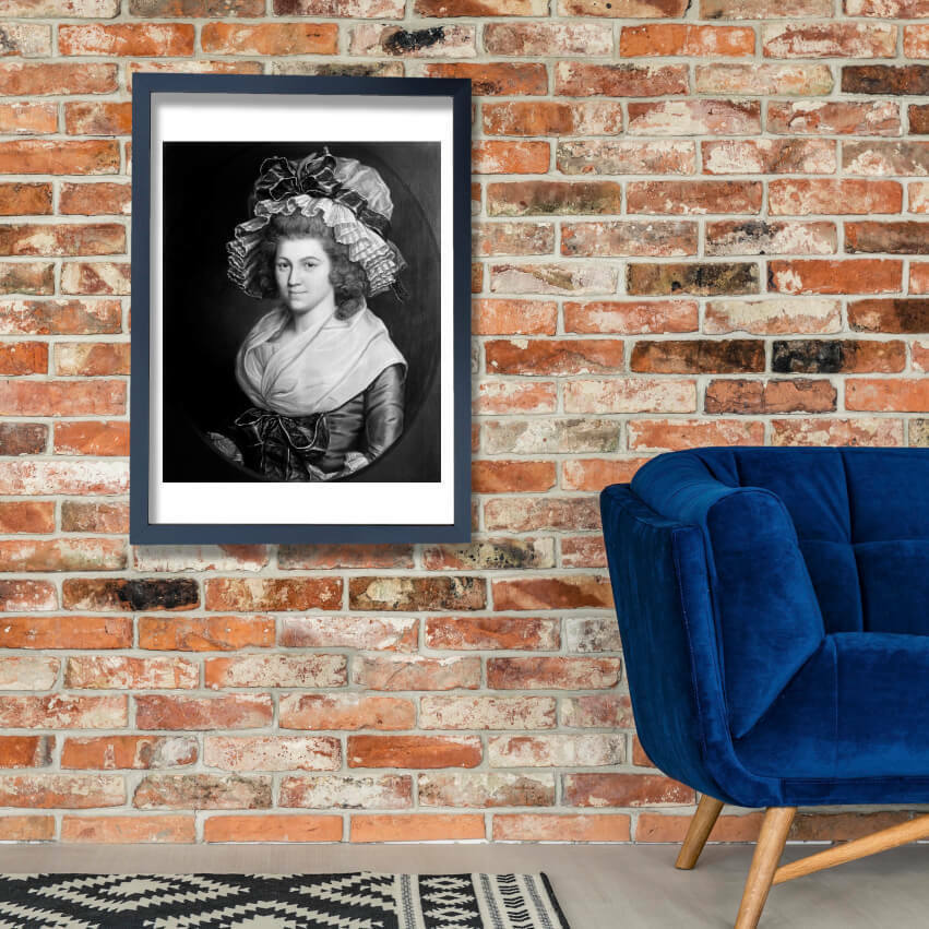Joseph Wright - Portrait of a Lady undated Wall Art Poster Print