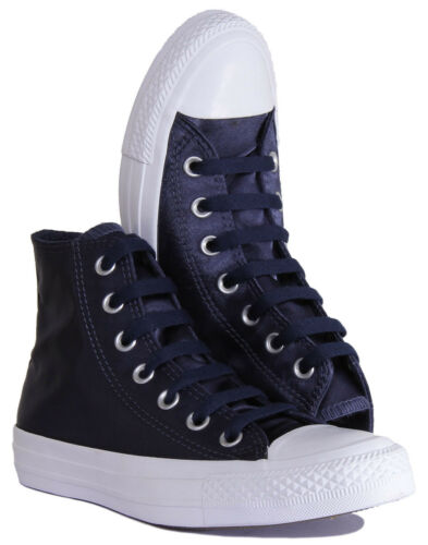 low priced c43c2 f9212 Chaussures Baskets Taylor Marine 557941 Uk Satin Converse De Toile Chuck  High All Star 9 8cZFRq