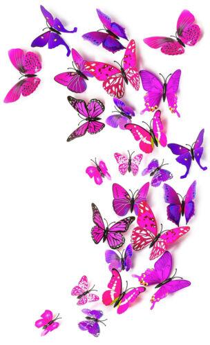 5 bis 15cm 24Stk Schmetterlinge 3D Kühlschrank Magnet mit Klebepunkte gelb ca.