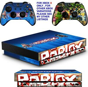 Roblox Skins Chrome - Details About Roblox Xbox One X Textured Vinyl Protective Skins Decals Wrap Stickers