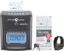 Pyramid Time Systems Model 2650 Automatic Time Card Feed And Alignment 6 Column