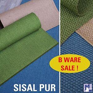 b ware sale gewebte sisal pur teppich l ufer unbeschichtet zum superpreis ebay. Black Bedroom Furniture Sets. Home Design Ideas