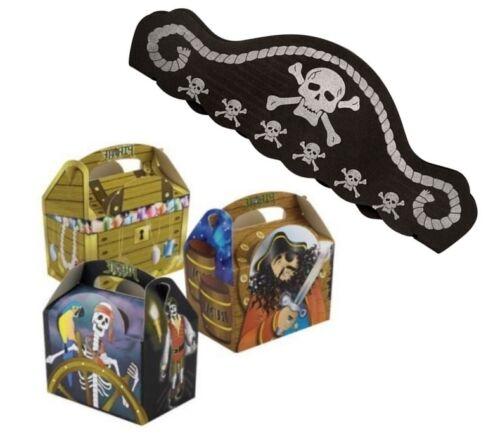Party box et pirate mousse hat ~ pirates treasure chest-food plaque cases