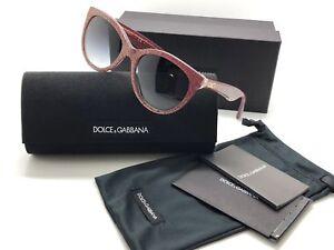 c8390cc65ce DOLCE   GABBANA DG 4192 2739 8G Red Glitter Gray Grad Cateye ...