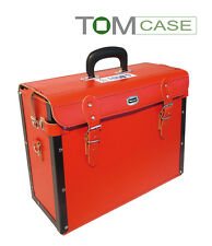 Werkzeugtasche rot, echt Leder WERKZEUGKOFFER Elektrikerkoffer, sehr hochwertig